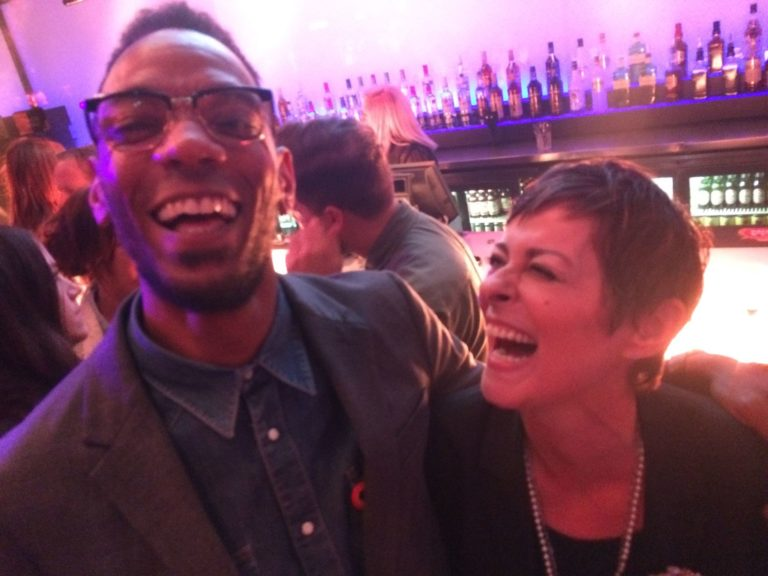 Darcus Beese and Lisa Stansfield get in the spirit of things
