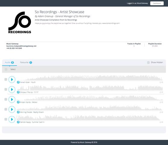 PlaylistExample-SoRecordings