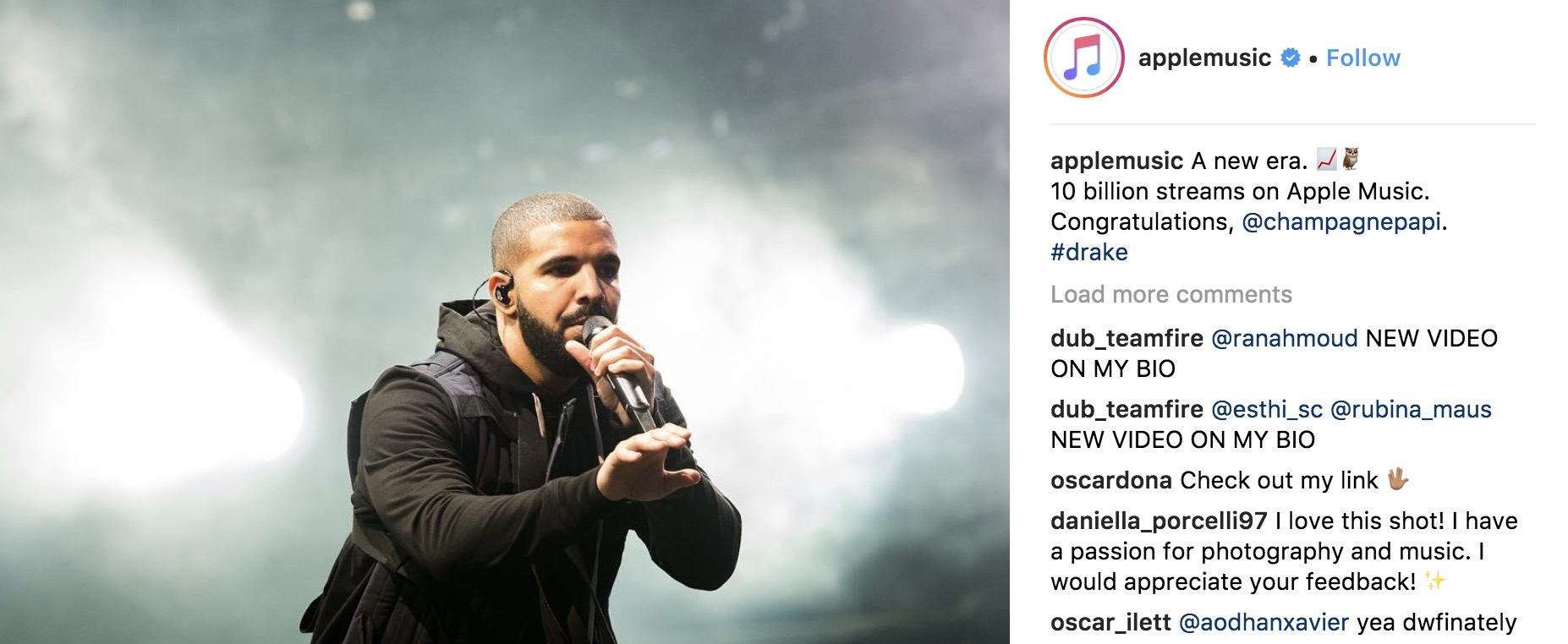 Drake has generated over $100m on Apple Music and Spotify