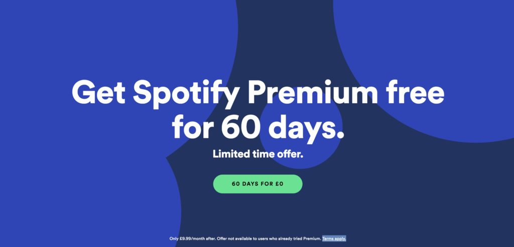 Spotify now giving away 60 days of Premium in the UK