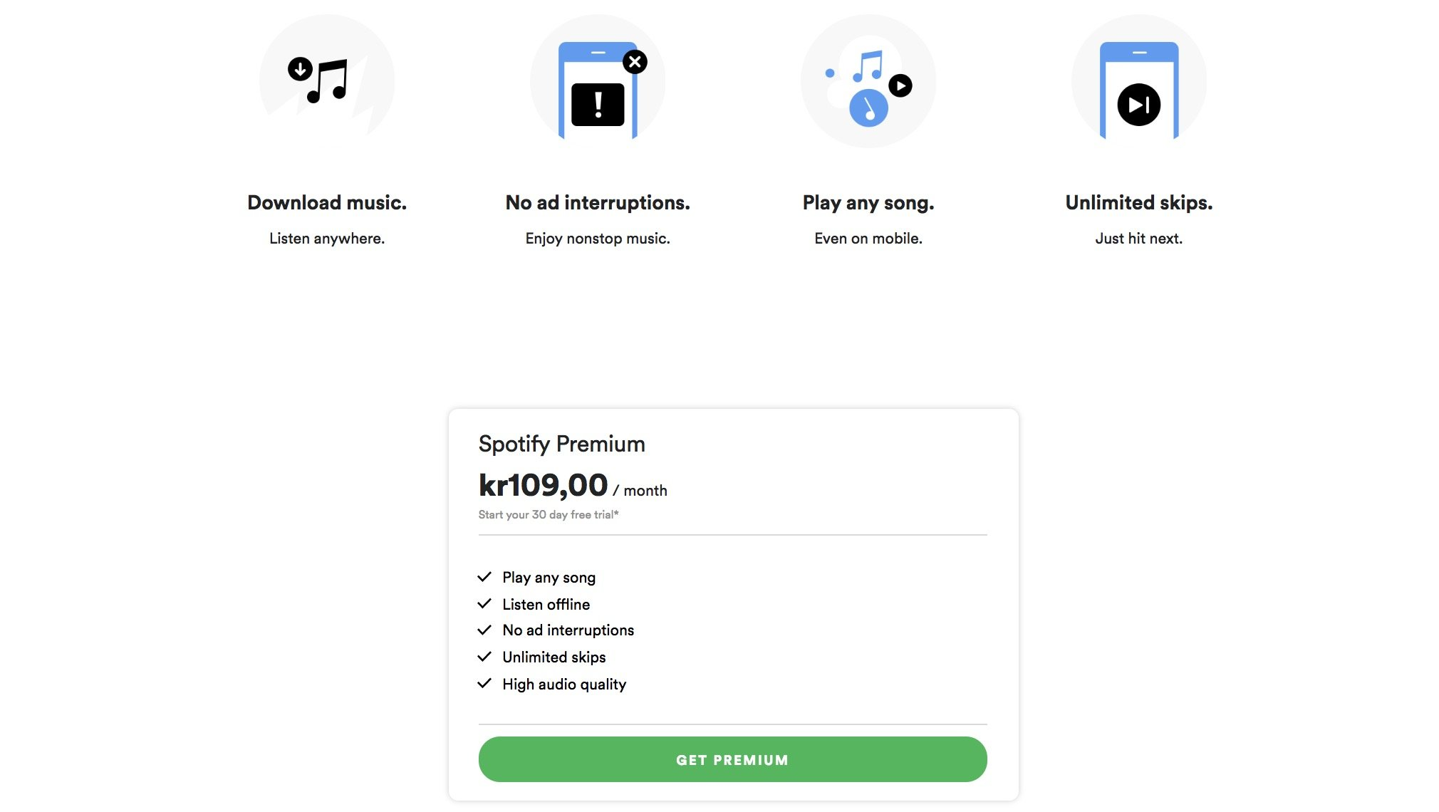 What happened when Spotify raised its prices by 10% in